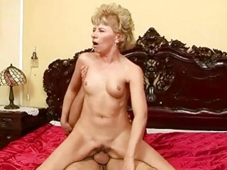 lusty grandma enjoys uneasy  porn with a boy