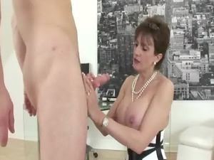 cougar lingerie like bitch blowjob drill