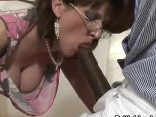 cougar brit femdom mixed dick sucking