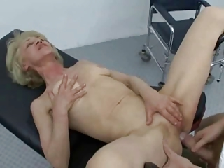 elderly worships piercing licking and swallowing