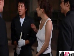 mature babe japanese own hardcore gang-banged