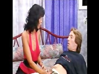 horny mature ethnic gaella perreira eats his boy