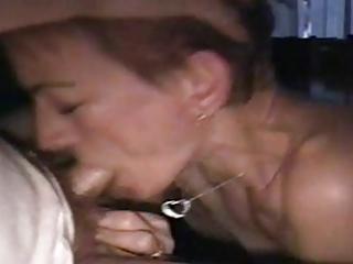 young older  housewife deepthroat