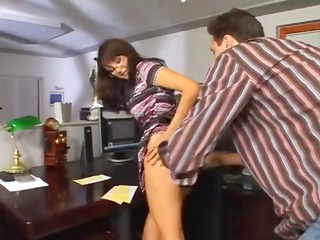 cougar bonnie in glasses acquires butt penetration