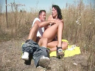 naughty woman takes pierced uneasy  openair free