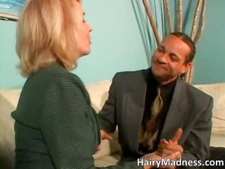 amazing desperate blonde mature babe licking