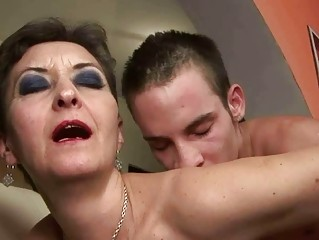 slutty old drilling with a guy