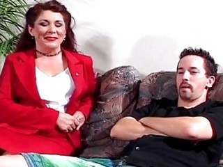 extremely impressive milf obtains drilled by sons