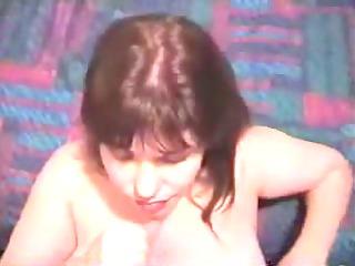 cougar lady massages cock