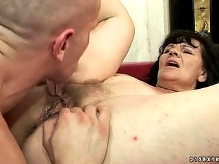 ugly grandma obtaining gangbanged uneasy  by