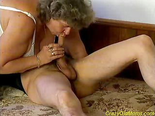 wild elderly milf obtains giant penis
