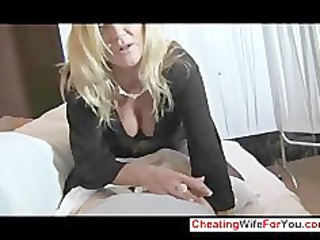 extremely impressive woman gives awesome handjob