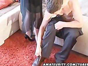 slutty inexperienced lady sucks and fucks with