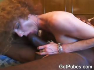 bleached woman spreads her shaggy cunt and