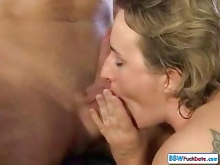 chubby mature hungarian blonde mom licks cock in
