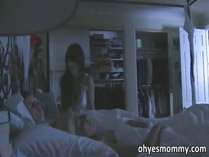 slutty stepmom is filled on seducing her