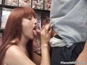horny red head slut likes in public part6