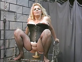 a buxom granny blonde woman slut get worked over