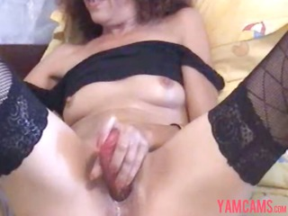 super sexy lean mature milf enjoys