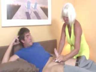 old welcomes boy wtih a handjob