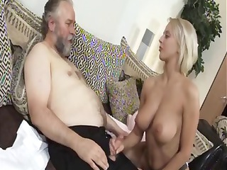 grownup pale mandy dee bounces her large tits as