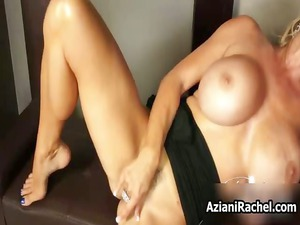 rachel aziani with her very big huge