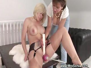 naughty milf pleasing her porn machine