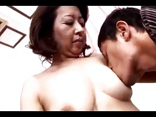 older  slut obtaining her tits sucked cave rubbed