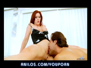 amateur red-haired mom pierced inside shoes