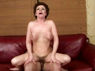 horny grandma drilling with her fresh friend