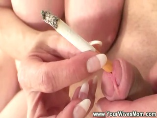 naughty smoking cougar porn