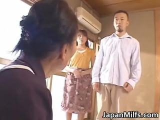 horny japanese woman licking and drilling
