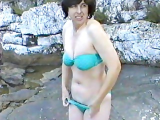 delightful lady initial time on nudist camp