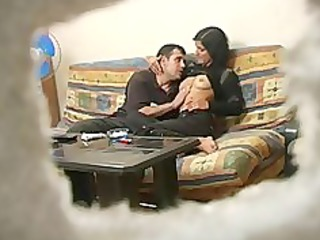 inexperienced turkish lady with russian guy