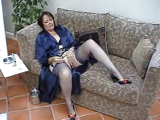 suzie cougar solo inside pantyhose