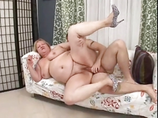 bbw mother with fresh male on divan