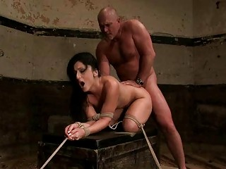 grownup male ties super brunette and dominates