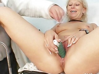 filthy granny whore gets her recturm examined by