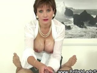 horny older  angel sophia gives handjob