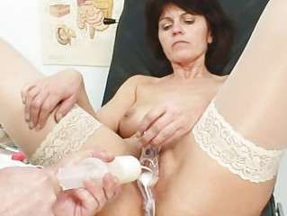 old housewife weird speculum kitty examination