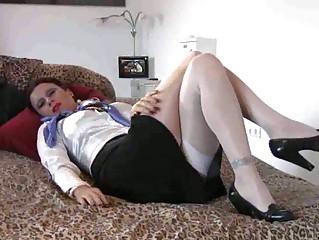 slutty woman stewardess footjob  gangbanging