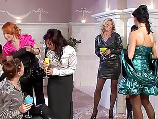 gorgeous milfs in hot dresses having bunch  fuck