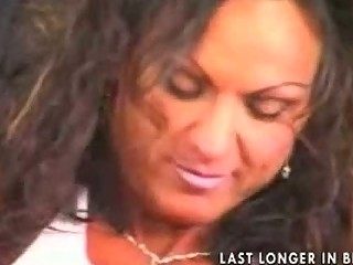super cougar horny brunette bodybuilder pierced
