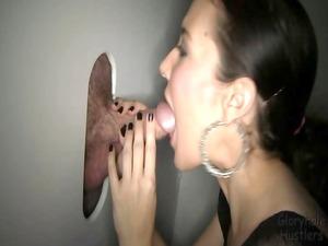 gloryhole hustlers taylor3 fucks, licks and drinks