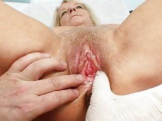 elderly bleached dorota obtains her hirsute