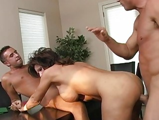 horny brunette desperate mature babe taking twice