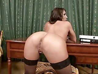 horny mature babe masturbates with devices