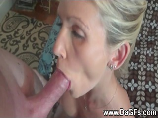 housewife has a mouthfull