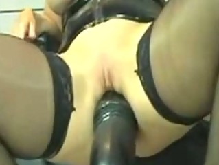 horny leather mature babe marian drives big sex