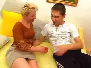 milf wills to enjoy with her son